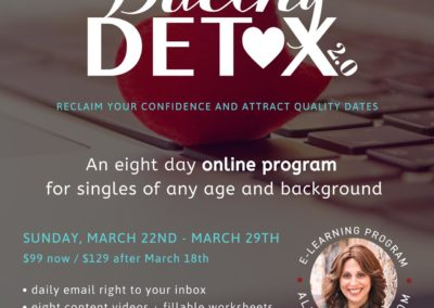Aleeza dating detox poster